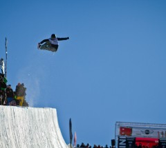 Winner Kelly Clark at the Burton New Zealand Open 2011