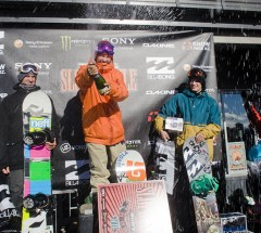 Mens Podium at the Billabong Slope-Style 2011