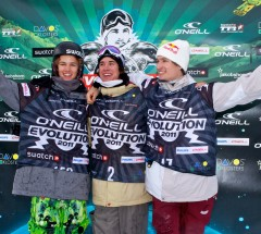 Mens Halfpipe podium, O'Neill Evolution 2011