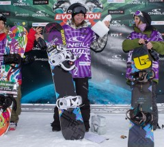 Womens Halfpipe podium, O'Neill Evolution 2011