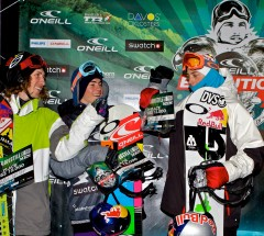 Mens Slopestyle podium, O'Neill Evolution 2011