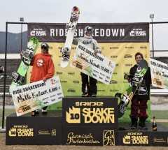 Podium at the Ride Shakedown Garmisch-Partenkirchen 2011