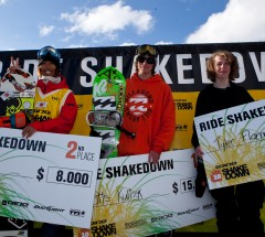 Podium at the Ride Shakedown USA 2011