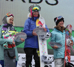 Womens Slopestyle podium at the Burton US Open 2011