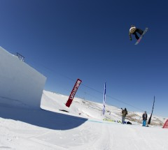 Slopestyle winner Enni Rukajarvi at the Burton High Fives 2012