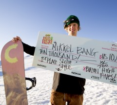Mikkel Bang win the Burton High Fives slopestyle 2012