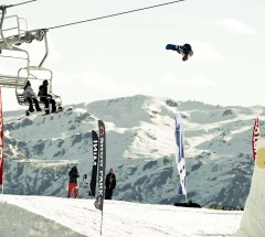 Mark McMorris at the Burton High Fives slopestyle finals 2012