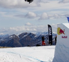 2nd place slopestyle Sebastien Toutant at the Burton High 2012