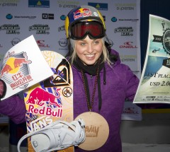 Aimee Fuller looks happy: 1st place Pleasure Jam and invitation for the upcoming Nanshan Open. Photo: Roland Haschka