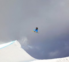 Slopestyle winner Chas Guldemond at the 5Star Grand Prix Copper