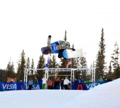 Reigning World Snowboard Tour Overall Champ Cilka Sadar at the Sprint Grand Prix at Copper - Photo: Sarah Brunson
