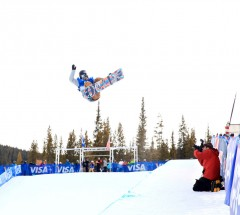 Clemence Grimal at the Sprint Grand Prix Halfpipe qualifiers - Photo: Sarah Brunson