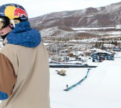 Sebastien Toutant checking the course at the X Games Aspen 2013 - January 23, 2013