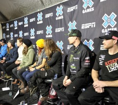 Athletes at press conference at the X Games Aspen 2013 - Photo by Eric Bakke / ESPN Images