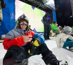 Luke Mitrani at the Halfpipe dropin - X Games Aspen Superpipe practice - Photo by Tom Zuccareno / ESPN Images