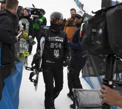 Shaun White after Slopestyle eliminations - X Games Aspen 2013 - Photo by Josh Gunter / ESPN Images