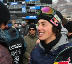 Mark Mcmorris stoked on winning Slopestyle finals- X Games Aspen 2013 - Photo by Gabriel Christus / ESPN Images