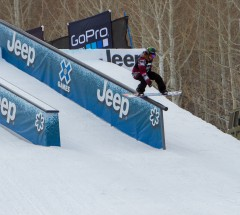 Jamie Anderson during Slopestyle finals - X Games Aspen 2013 - Photo by Matt Morning / ESPN Images