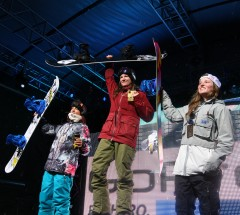 Womens Halfpipe podium 1. Kelly Clark 2. Elena Hight 3. Arielle Gold - X Games Aspen 2013 - Photo by Gabriel Christus / ESPN Images