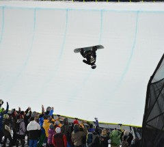 Shaun White in Super-Pipe Finals at X Games 2013 - Photo: Scott Clarke