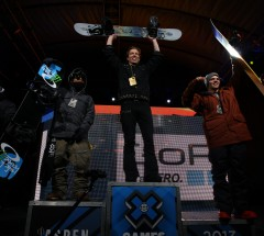 On the Halfpipe Podium: Shaun White, Ayumu Hirano & Markus Malin at X Games 2013 - Photo: Gabriel Christus
