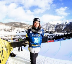 Luke Mitrani came in 2nd place at the Sprint Grand Prix Copper Halfpipe finals - Photo: Sarah Brunson