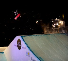 Kyle Mack at the O&#039;Neill Evolution 2013 Davos Final Big Air - Photo: David Birri
