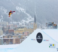 Markku Koski (FIN) at O'Neill Evolution Training Big Air - Photo: David Birri
