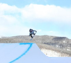 Urska Pribosic came in 5th place at the Grand Prix Copper Slopestyle finals - Photo: Sarah Brunson