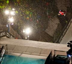 Sebastien Toutant at the Big Air Tour final in Innsbruck