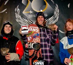 Prize giving at the Billabong Air & Style Innsbruck 2013