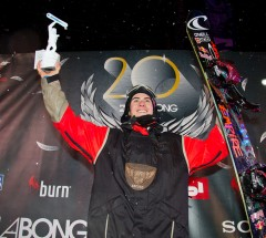 Sebastien Toutant collected the best Big Air results this season and was crowned Big Air World Snowboard Tour Champion 2012/13