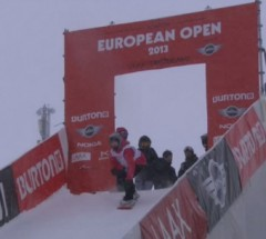 Ellery Hollingsworth - 3rd place at Burton European Open 2013 - Halfpipe Finals
