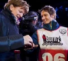 Three-times Air & Style Winner Stefan Gimpl receiving his Ring of Glory