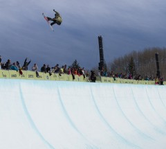Kelly Clark at the Burton US Open 2013 Halfpipe Finals