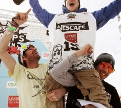 Janne Korpi celebrates his 2nd win at the Nescafe Champs 2013