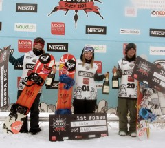 Nescafe Champs 2013 Women's podium: 1. Ty Walker 2. Jordie Karlinski 3. Phoebe Novelle