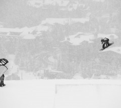 Jamie Nicholls (GBR) at the Burton US Open 2013 - Slopestyle Finals Day