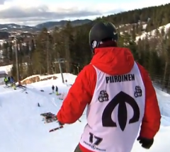 Peetu Piiroinen   Semi Final run at the Arctic Challenge Halfpipe 2013   YouTube
