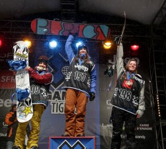 X games Women Pipe Podium