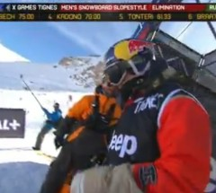 Sebastien Toutant 2nd Run at X Games Tignes - Slopestyle Semi Finals