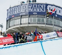 Christian Haller during Halfpipe semi finals at the Burton European Open 2014 - Photo: Laemmerhirt