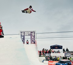 Ursina Haller placed 1st during Halfpipe semi finals at the Burton European Open 2014 - Photo: Laemmerhirt