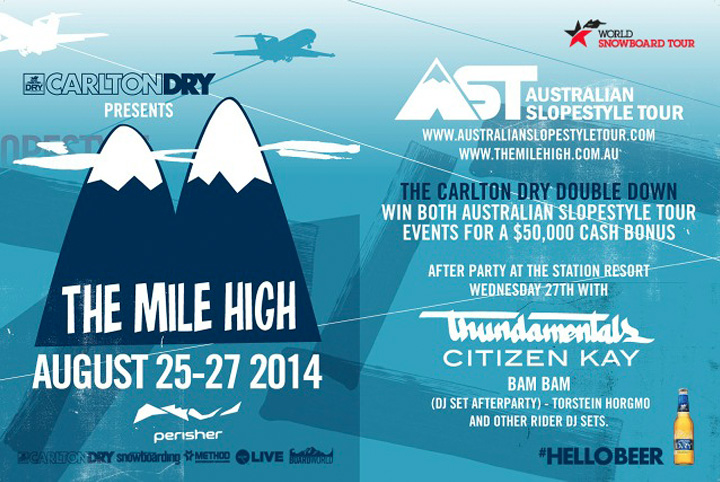 Australian Slopestyle Tour 2014 kicks off August 25th with The Mile High by Carlton Dry