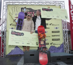 2014 Burton High Fives SS Podium-Jamie Anderson and Emil Ulsletten-Photo Credit Phil Erickson